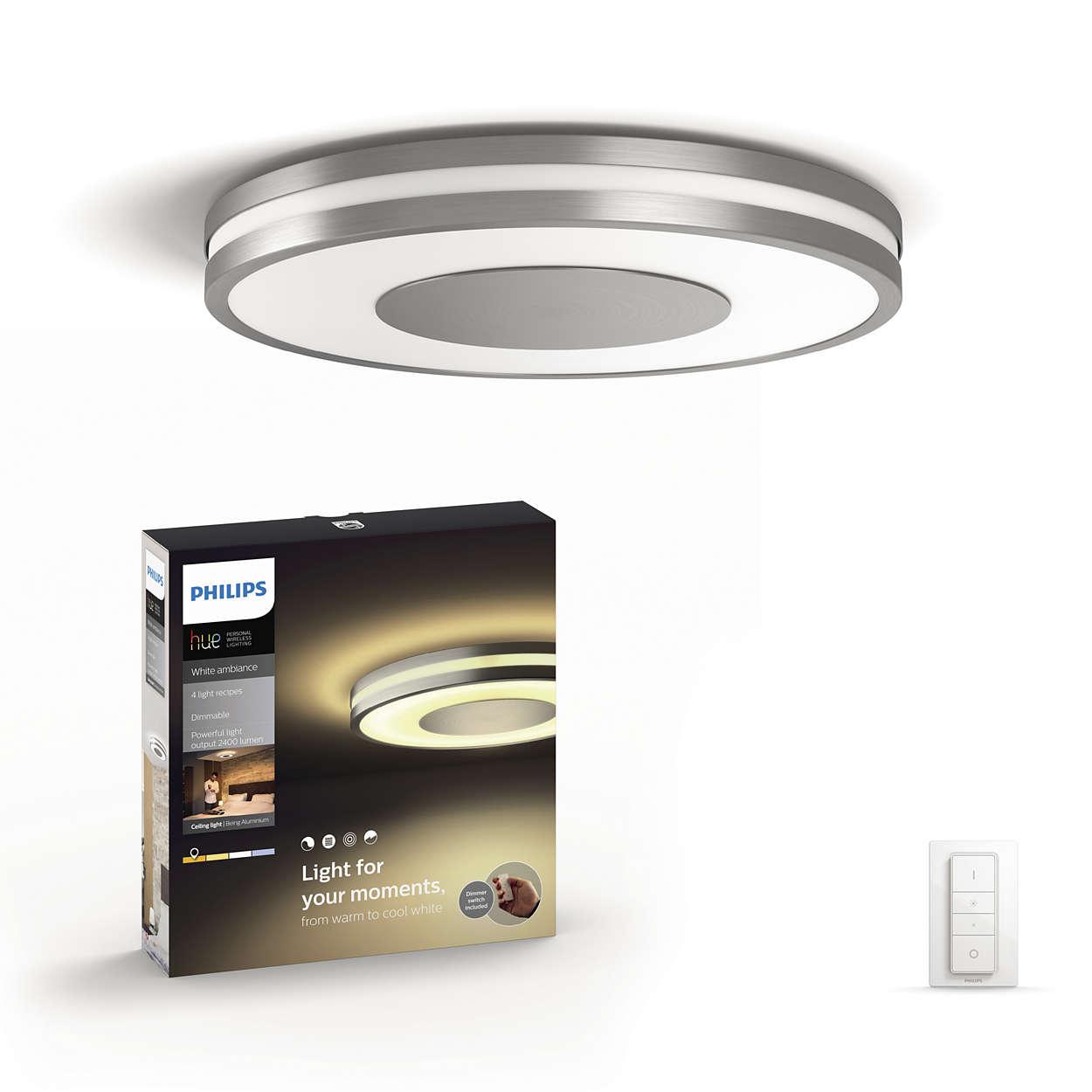 Projecte um brilho de luz agradável no seu tecto