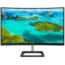 จอภาพ LCD แบบโค้ง พร้อม Ultra Wide-Color
