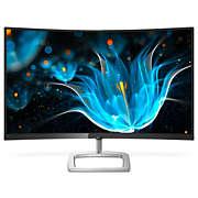 Gebogen LCD-monitor met Ultra Wide-Color