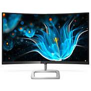 Zaobljen LCD-monitor s širokim barvnim spektrom