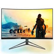Momentum Ambiglow 적용 커브드 QHD LCD 디스플레이