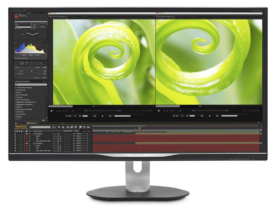 ウルトラクリア 4K 解像度、超鮮明な色彩