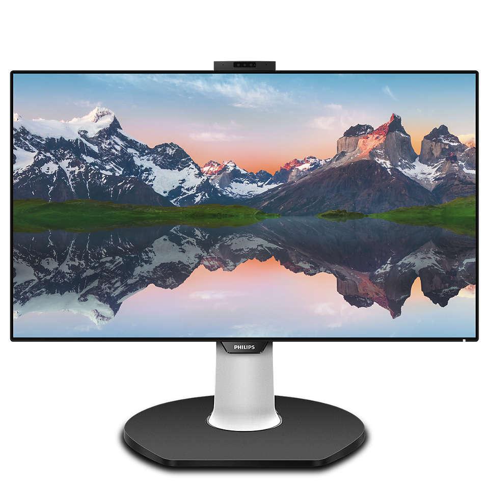 Brilliance LCD-skærm med USB-C-dock