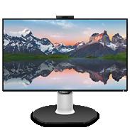 Brilliance LCD-skjerm med USB-C-dokkingstasjon