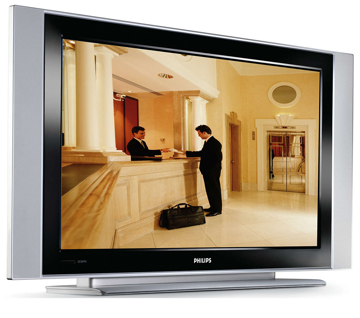 TV splochou obrazovkou a připraveným systémem