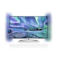 32PFL5008H/12  Ultraflacher 3D Smart LED-Fernseher