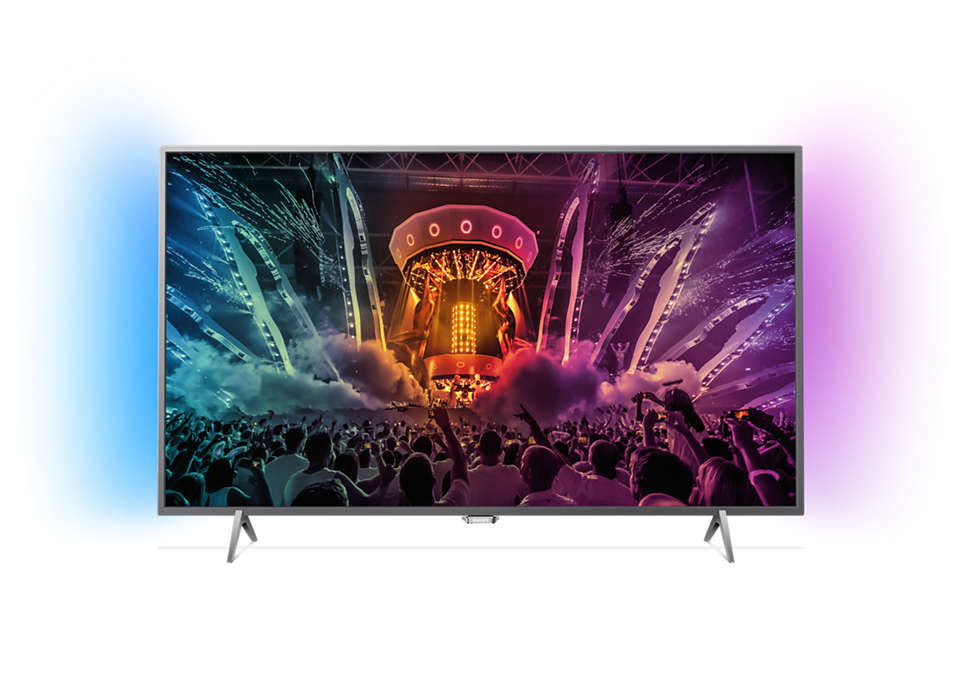 Ultraflacher Full-HD-LED-Fernseher powered by Android TV
