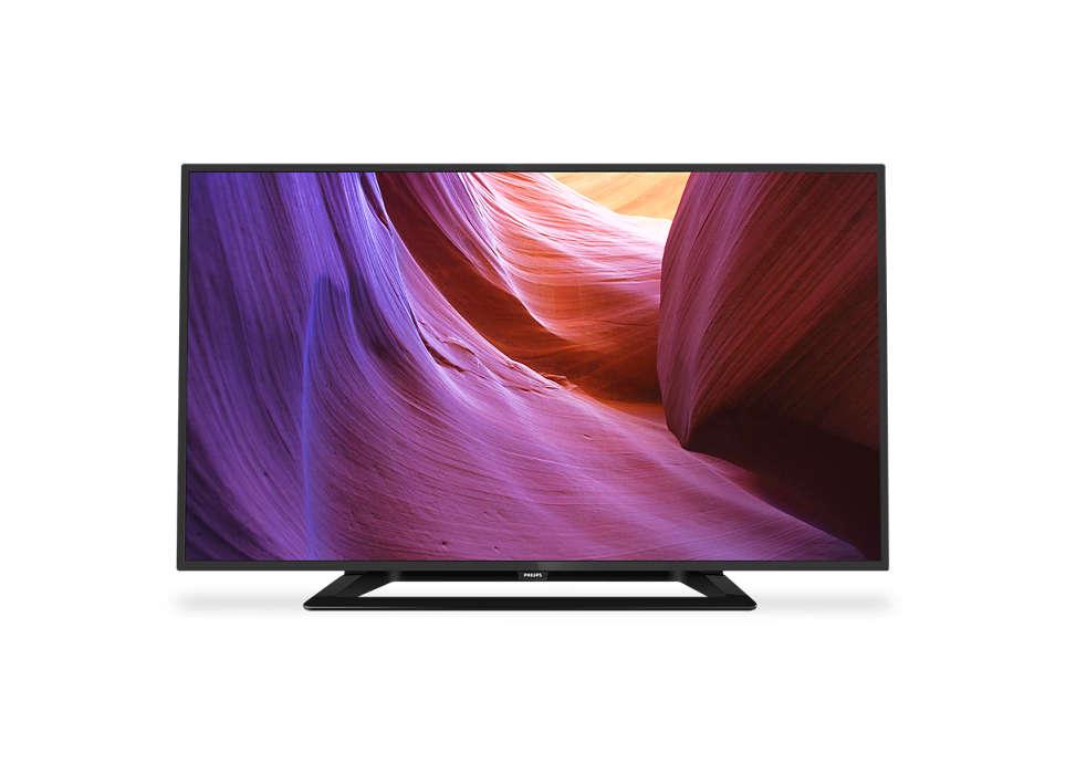Slank LED-TV med Full HD