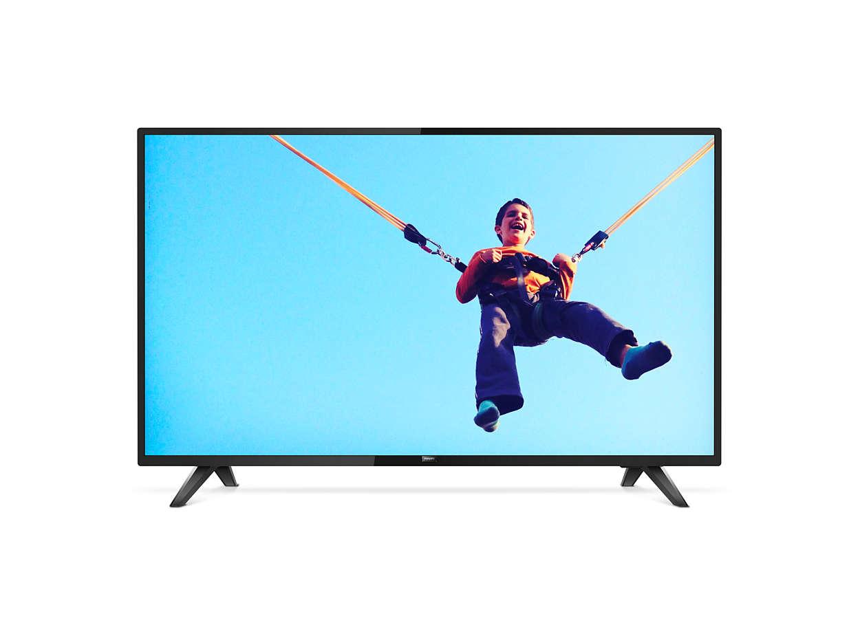 Televisor Smart LED ultradelgado