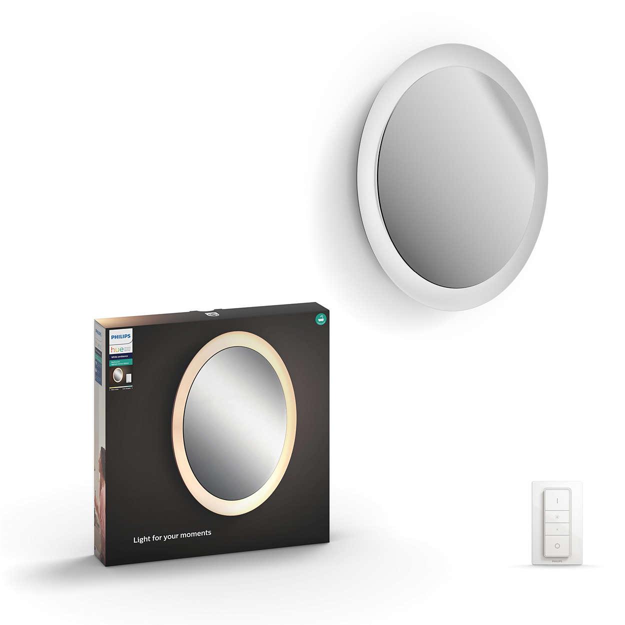 Hue white ambiance adore badezimmer spiegelleuchte 3435731p7 philips - Philips hue badezimmer ...