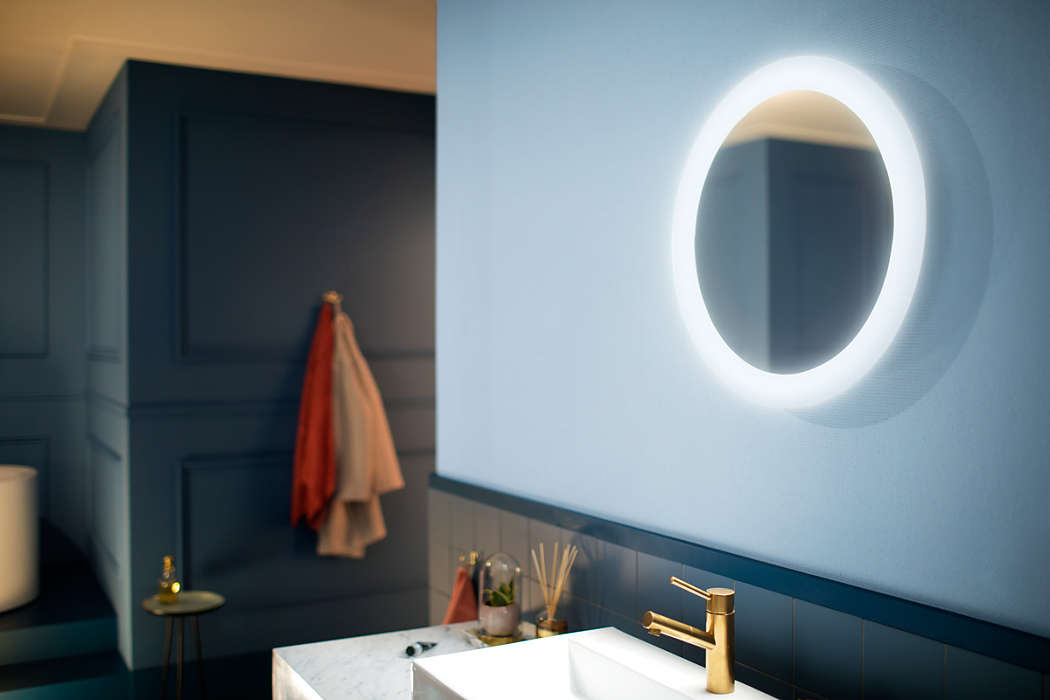 Hue White ambiance Adore Bathroom lighted mirror 3435731P7 | Philips