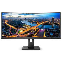 Svängd UltraWide LCD-skärm