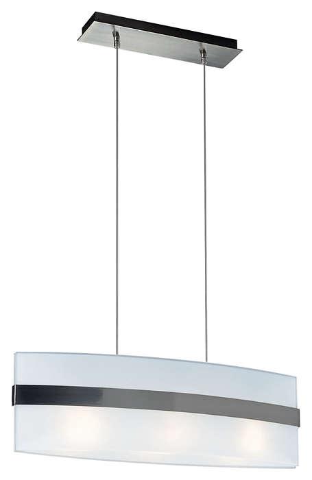 Nienke 3-light Pendant in Matte Chrome finish