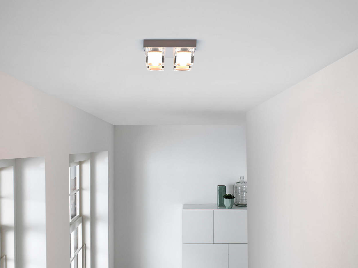 Plafoniere Quadrate Philips : Lampada da soffitto 367611716 philips