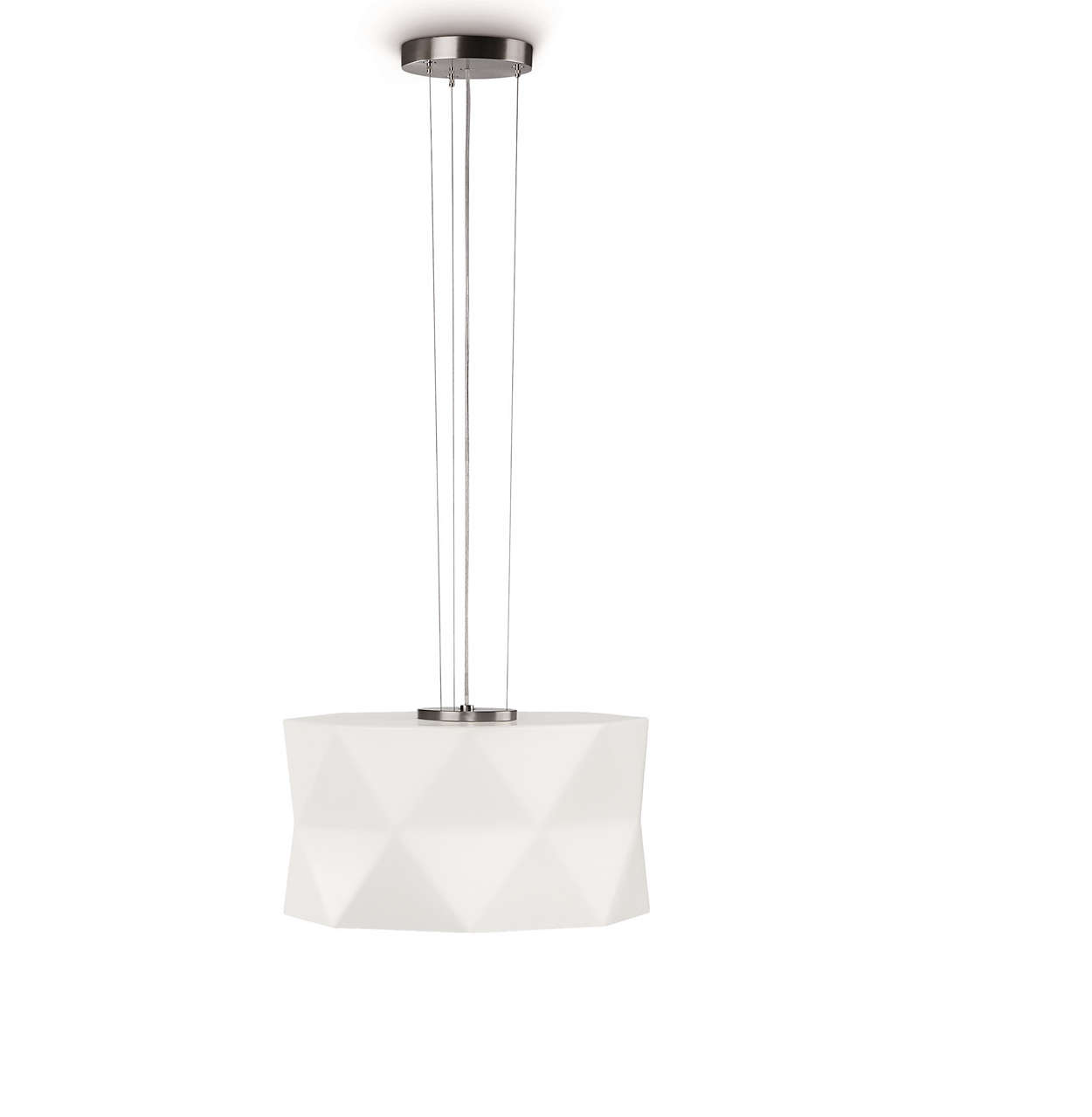 Rossini 1-light Pendant in Matte Chrome finish