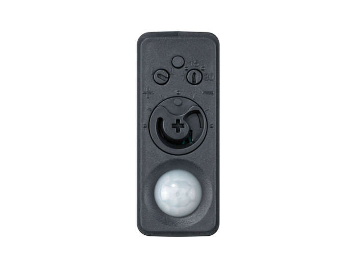 Front view of the LRI1655/06 ActiLume 1-10V luminaire-based sensor. Also available in light grey (LRI1655/00 -913700339503) and white (LRI1655/05 - 913700354903).