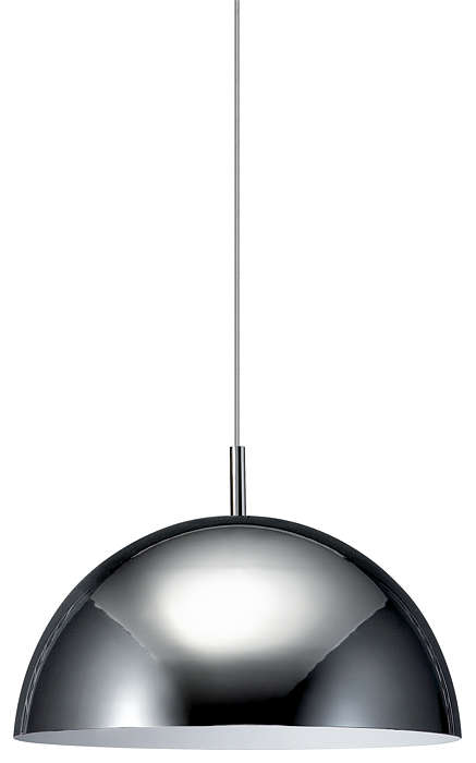 Dome 1-light Pendant in Chrome finish