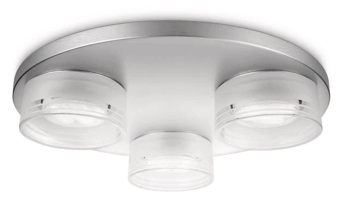 Dekoruokite namus šviesa