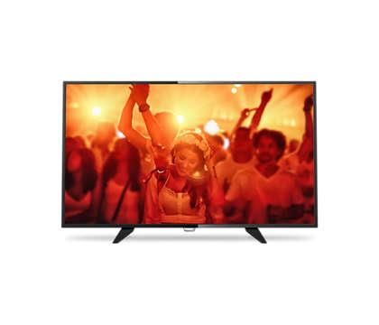 Flacher Full-HD-LED-Fernseher