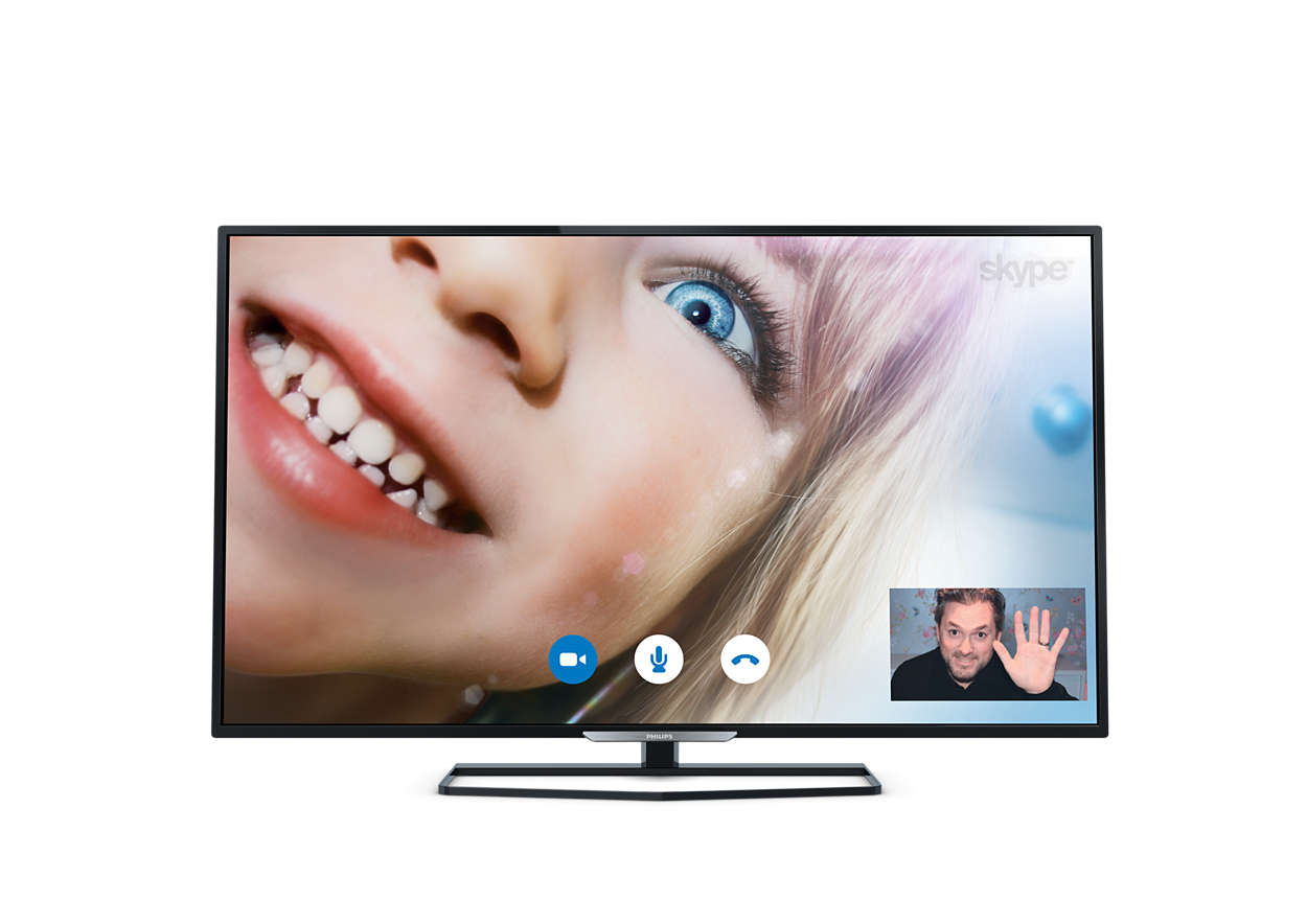 Flacher Smart Full HD-LED-Fernseher