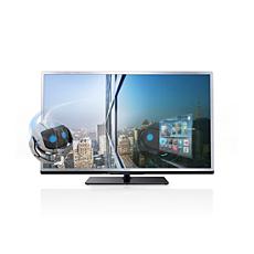 40PFL4508K/12  Ultraflacher 3D Smart LED-Fernseher
