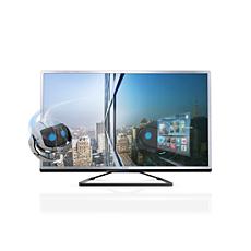 40PFL4508T/12  Εξαιρετικά λεπτή τηλεόραση 3D Smart LED