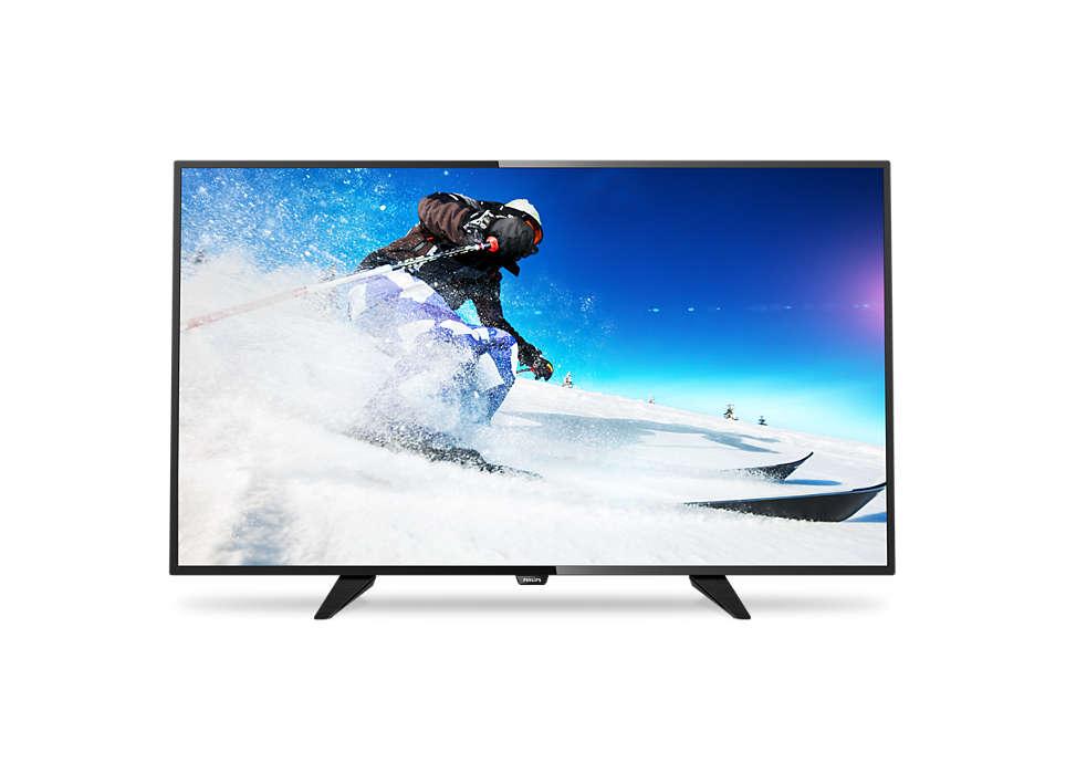 Тонкий светодиодный LED-телевизор Full HD