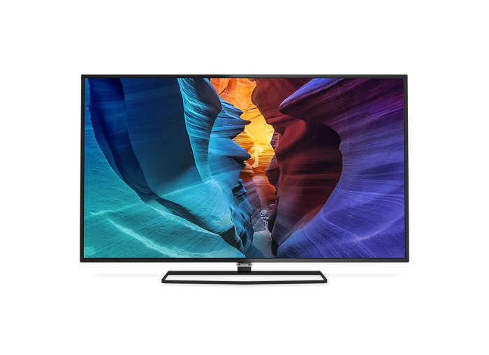 Smukły telewizor LED 4K UHD z systemem Android
