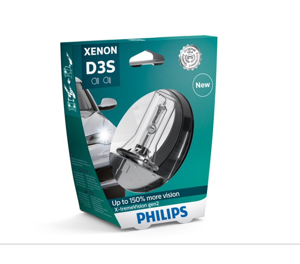 Philips D3S gen2 X-treamVision up to +150% more vision