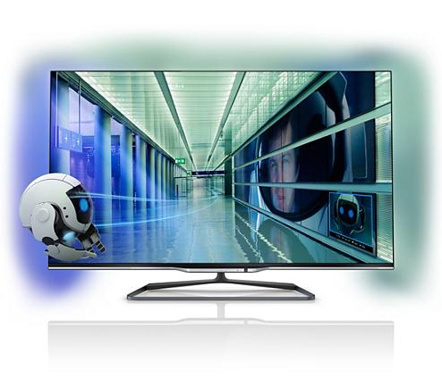 a884e584c Ultra tenký 3D LED televízor Smart TV 42PFL7008K/12 | Philips