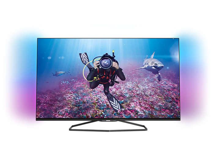 Niezwykle smukły telewizor LED Full HD Smart