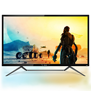 Momentum 4K HDR display with Ambiglow