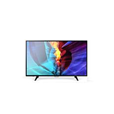 43PFT6110/56  دقة Full HD، تلفزيون LED رفيع