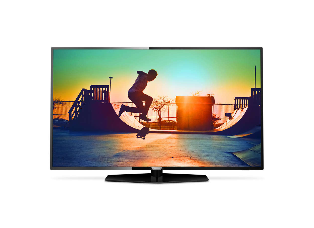 Ultraflacher 4K Smart LED-Fernseher