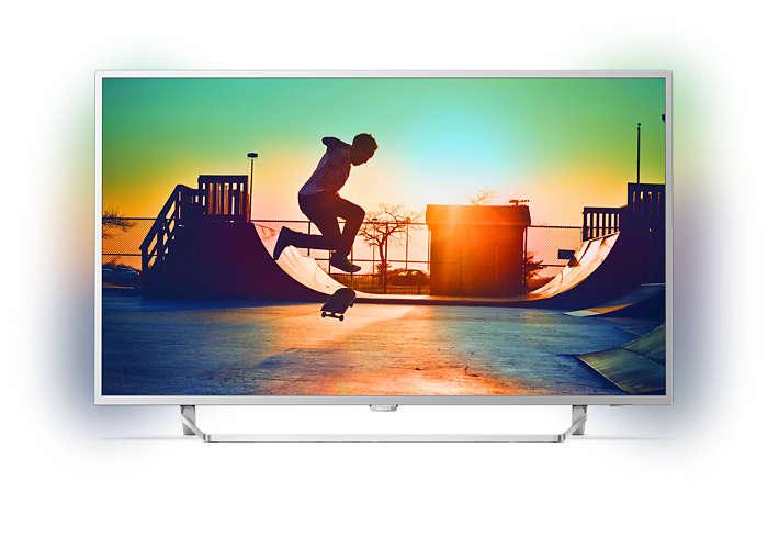 Televisor LED 4K ultraplano con tecnología Android TV