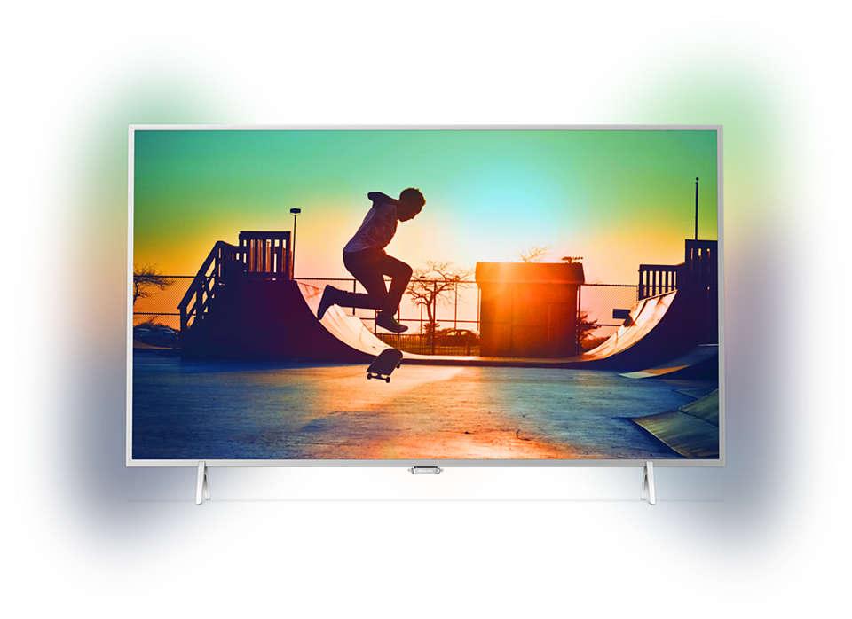 Izjemno tanek LED-televizor 4K s sistemom Android TV