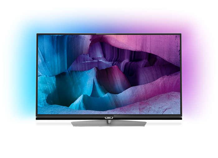 Ultratunn LED-TV med 4K UHD och Android