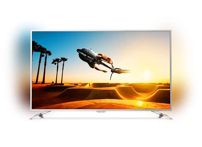 Slimmad LED-TV med 4K Ultra HD och Android TV