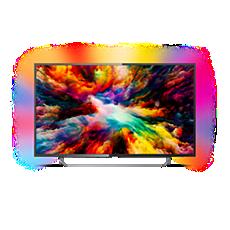 43PUS7373/12  Ultraflacher 4K UHD-LED-Android-Fernseher