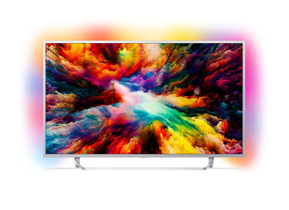 Tunn Android LED-TV med 4K UHD