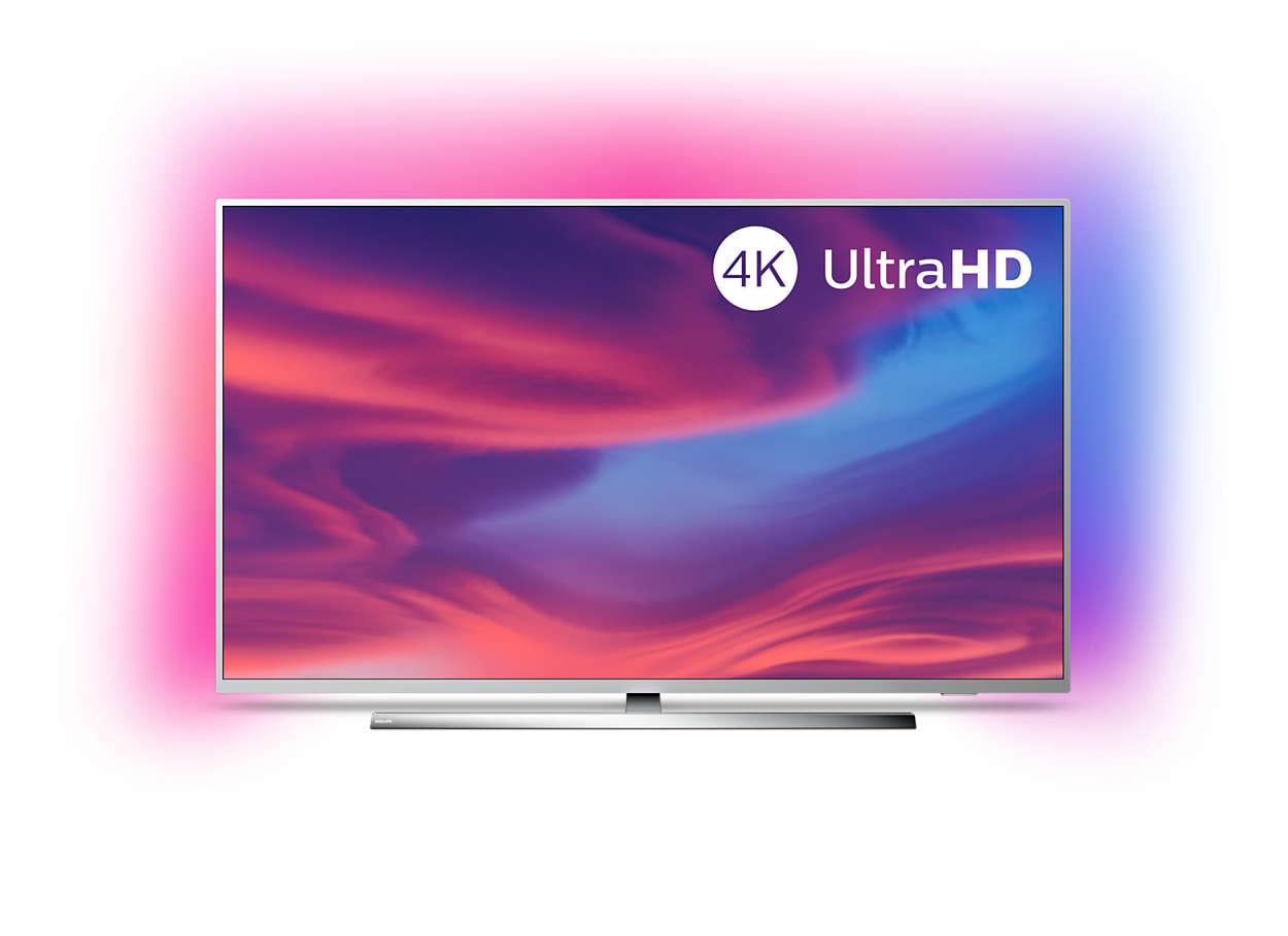 Ļoti plāns 4K UHD LED Android TV