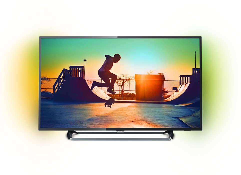 Niezwykle smukły telewizor LED Smart 4K