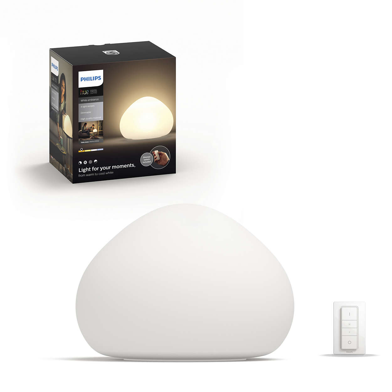 Hue White Ambiance Wellner Table Lamp 4440156p7 Philips