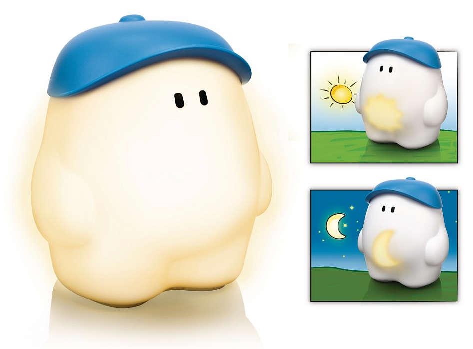 myBuddy forteller barnet når det er tid for lek!