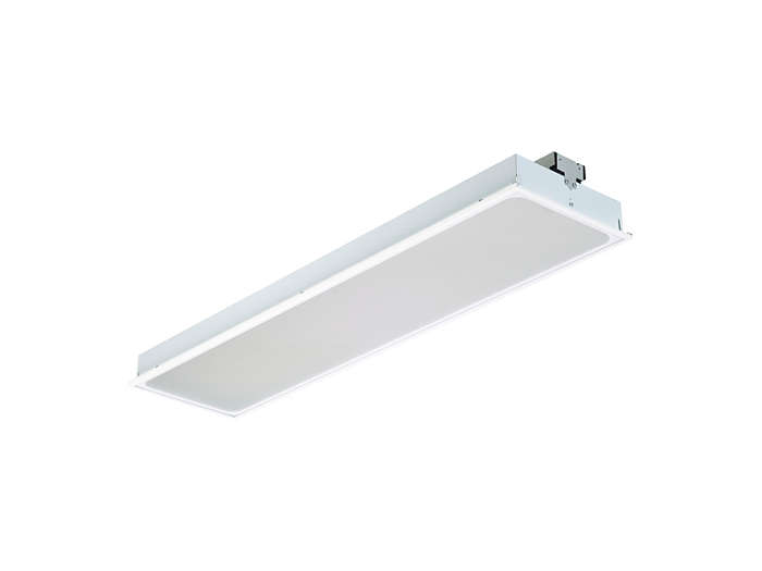 SmartBalance recessed RC480B LED luminaire, module size 300x1200 (visible profile ceiling version)