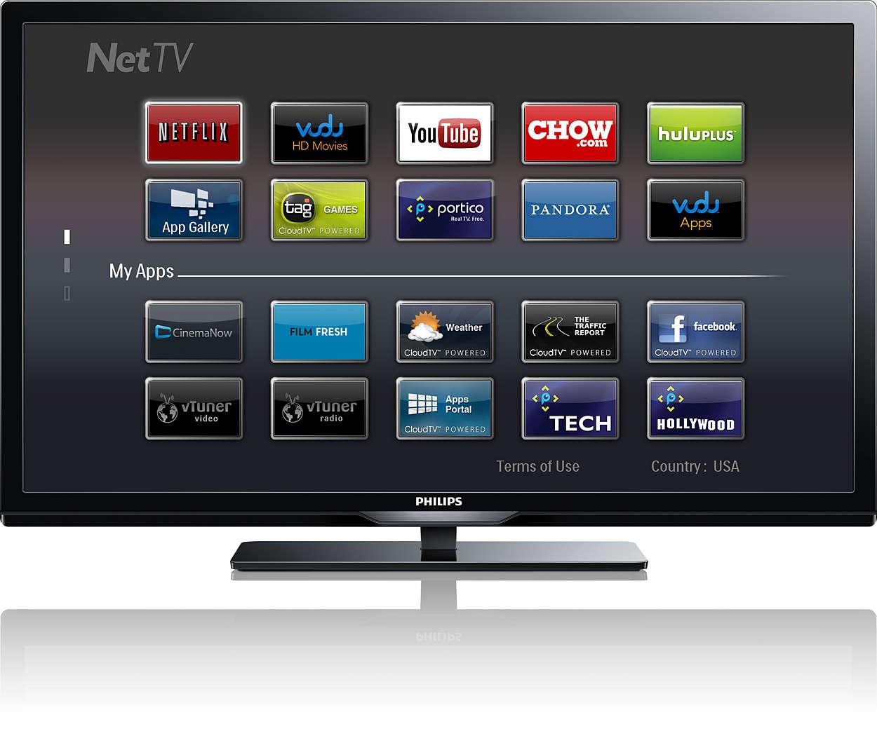 Téléviseur sans fil intelligent