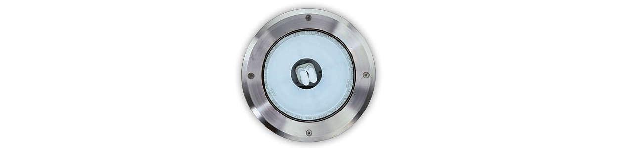 Luminaire LED haute résistance à encastrer pour usage extérieur