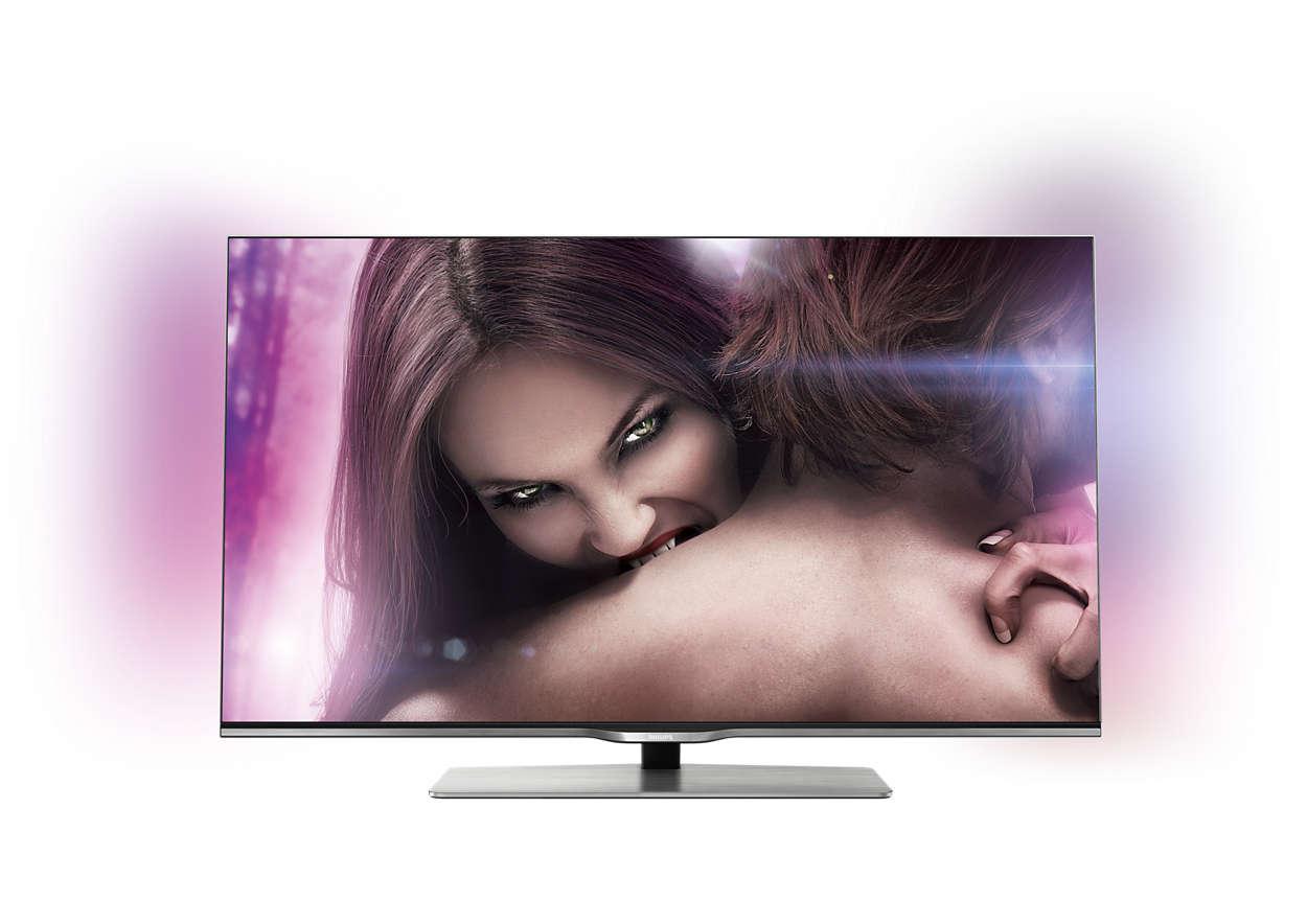 Ultraflacher Smart Full HD-LED-Fernseher