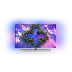 OLED+ Android TV 4K UHD com sistema de som Bowers&Wilkins