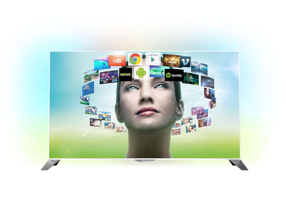 Изключително тънък FHD телевизор, работещ с Android